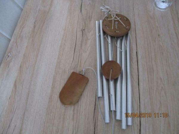 zeer mooie grote windvanger gong/orgel 6 pipes mooi geluid