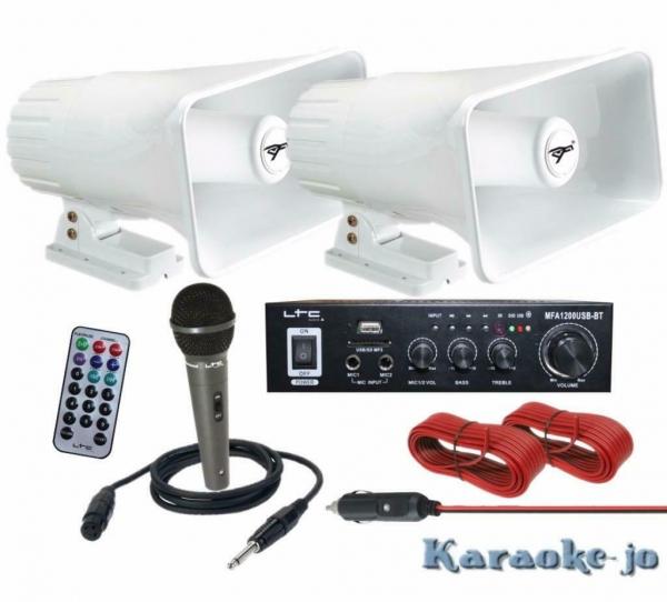 Complete 12 Volt omroep installatie voor op de Auto (E-P110)