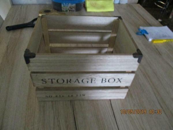 Storage box/kistje home sweet home in vorm aardappelkistje