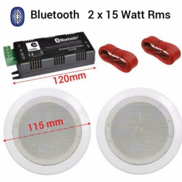 Bluetooth plafond luidspreker set wit 2x 11,5Cm 50Watt