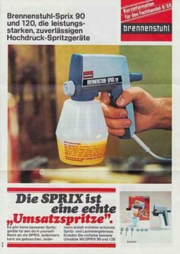 verfspuit, BRENNENSTUHL-SPRIX 90