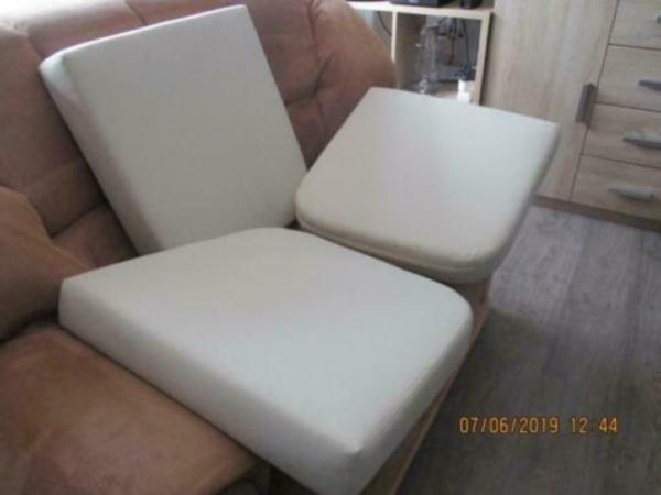 3 Losse zit kussens van goede kwaliteit, wit 50 x 50 x 10 cm