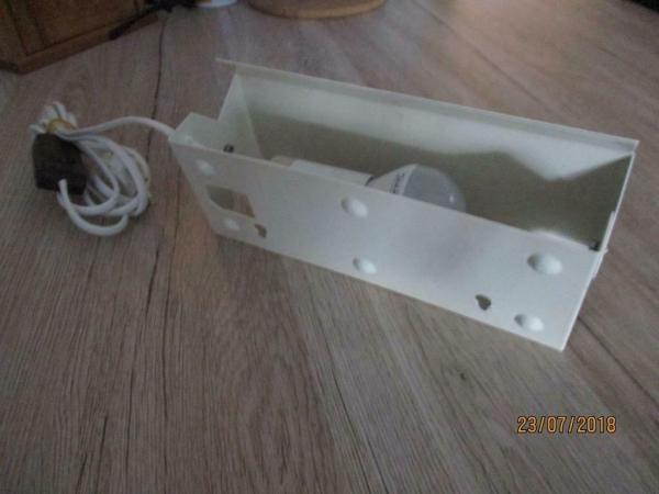 Retro bed wand lamp wit met spaarlamp