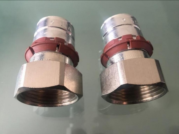 Uponor pers schroefverbinding binnendraad 1X25mm (2 stuks)