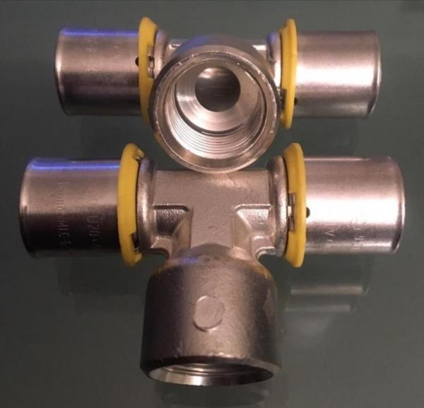 Uponor MLC-G gas pers T-stuk 20 x 1/2 x 20 MM binnendraad