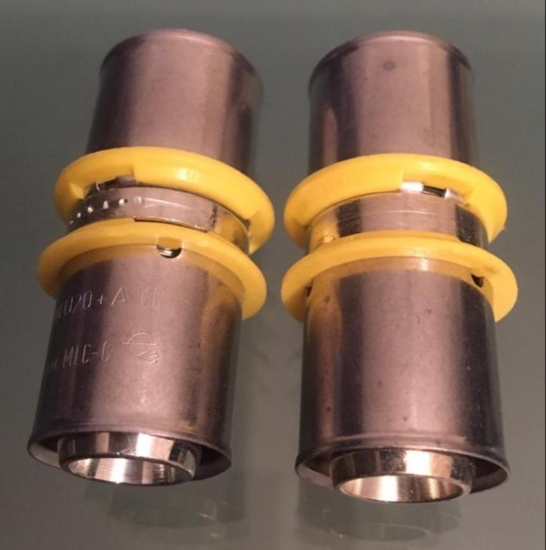 Uponor MLC-G gas pers koppeling Sok 20 x 20mm (2 Stuks).