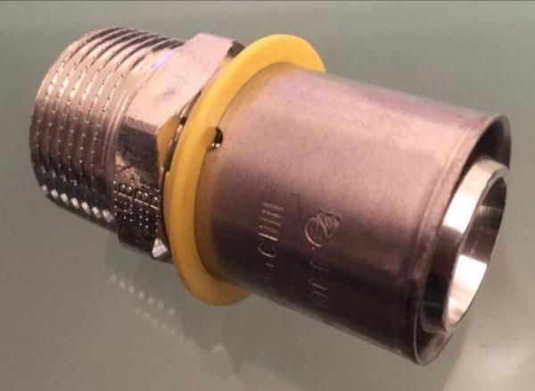 Uponor MLC-G rechte Gas koppeling, puntstuk 25mm x 3/4''