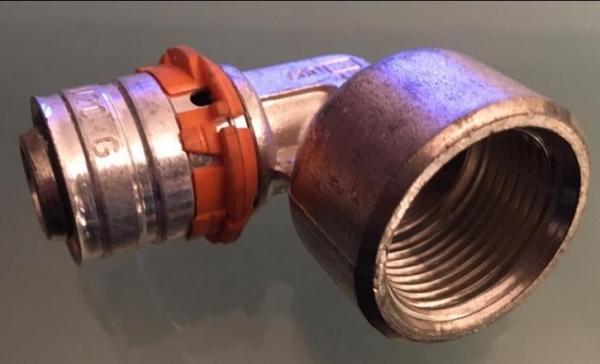 Uponor Press knie 90°Binnendraad 20mm X3/4