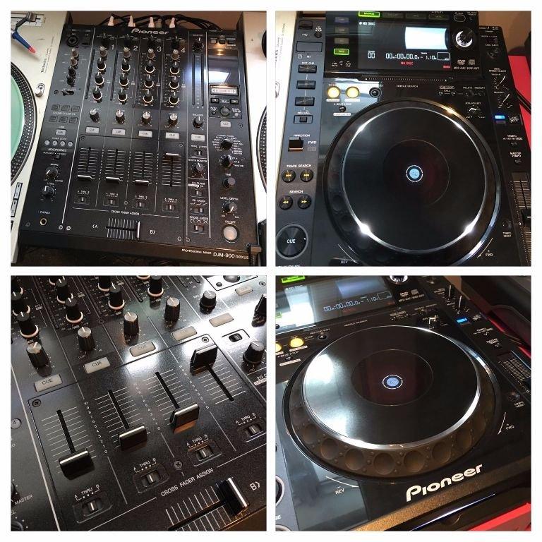 2 Pioneer Cdj 2000 + Pioneer Djm900 Nexus Mixer