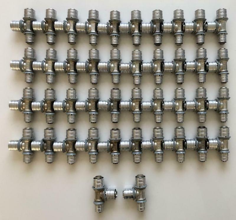 Uponor MLC pers T-stuk verloop 20x20x16mm (42 Stuks)
