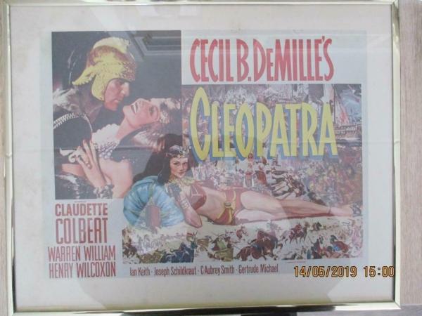 film poster Cleopatra, voor de film verzamelaar