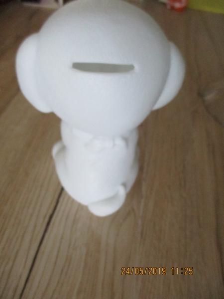 spaarpot hond kunstof met verlichting 16 x 11 cm