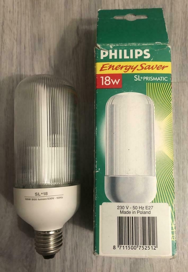 Philips genie energy saver 18w SL PRISMATIC