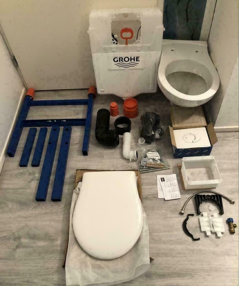 Grohe Solido inbouw (WC) Helemaal compleet zie foto's
