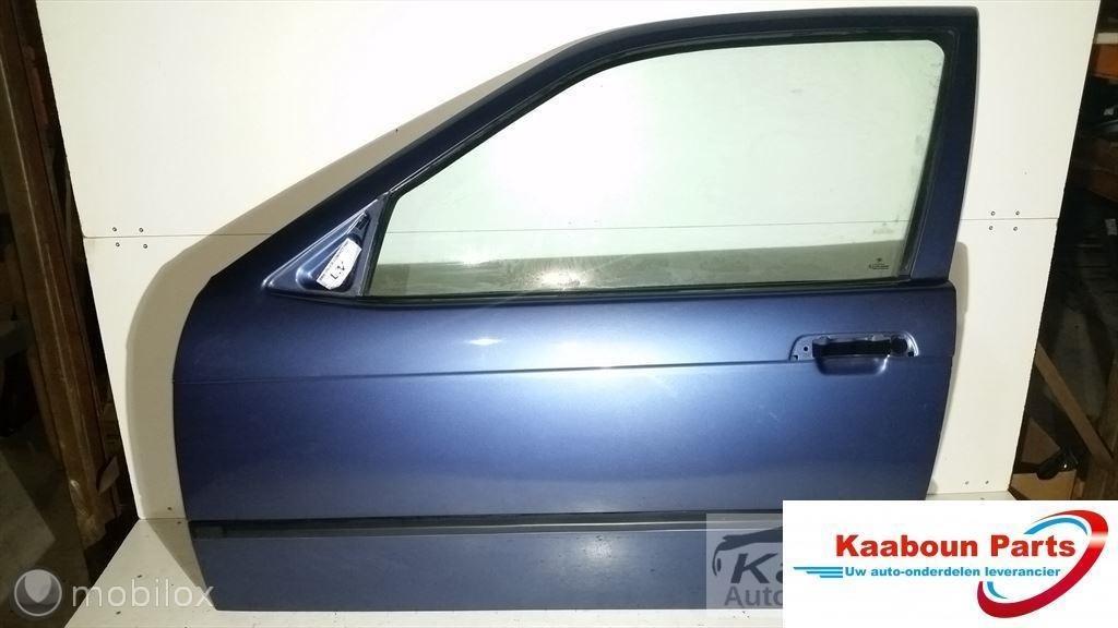 Deur / portier links blauw BMW 3 serie E36 Compact