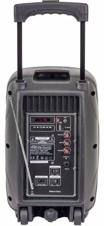 PARTY-8LED Mobiele Speaker 8 inch 300Watt (6100P-B)