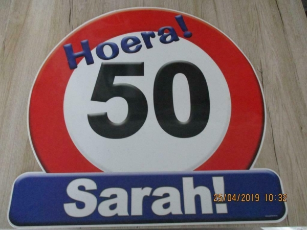 sarah bord 50 jaar