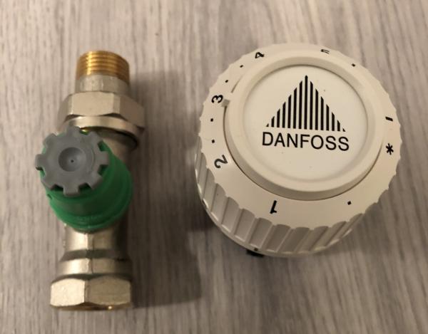 Danfoss therm.radiatorkraan recht 1/2''
