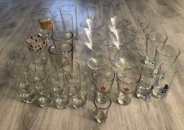 Een leuke set glazen 36 Stuks ! (zie fotos !).