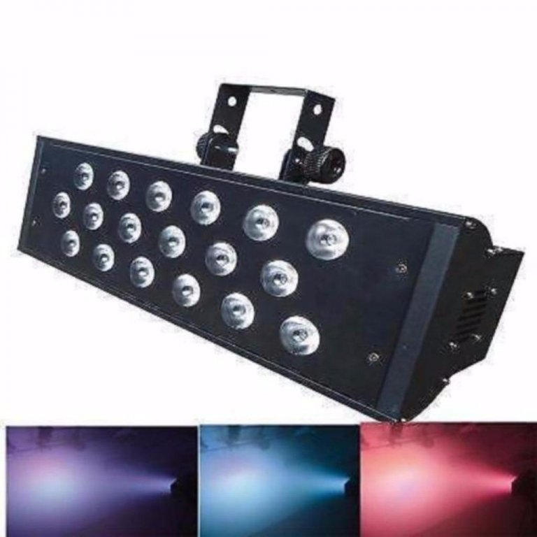 Led Stroboscoop 18x 10 Watt RGBW LEDs, (4-in-1)