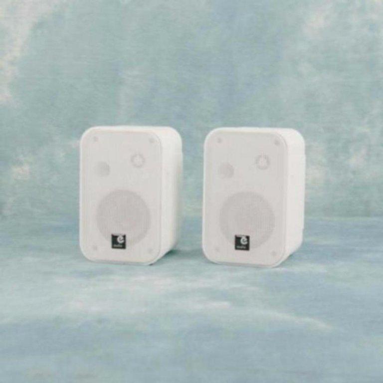 2 Weg speakers mini speakers 50 Watt Rms wit (B418KJO)