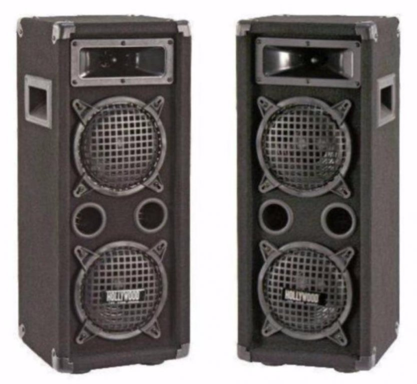 3 weg speakers 4 x 16,5 cm 300 Watt (64D),