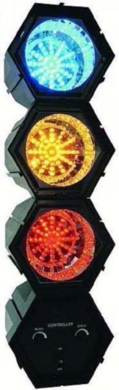 Looplicht met 3 LED kleurige lamp (013)