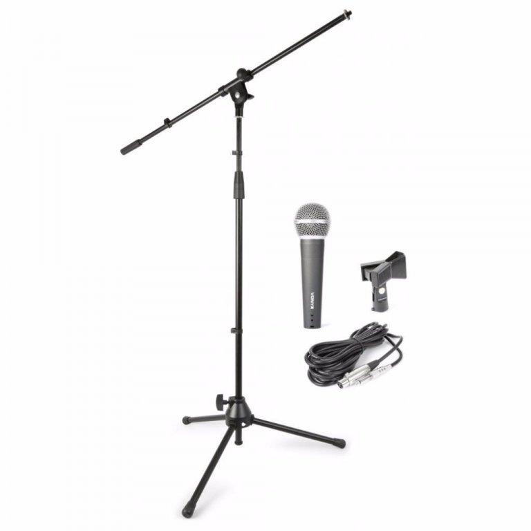 Complete microfoonset met standaard in draagtas (059-T)