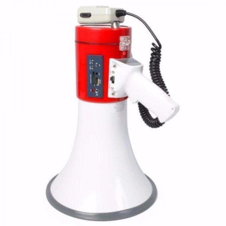 Megafoon 30Watt USB/SD Lithium accu (025-T)
