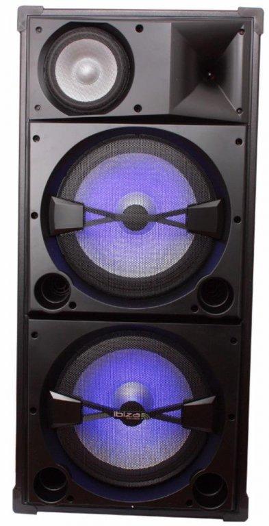 Discobox 3 weg 900Watt 2 x 15 inch bass (2129-B)