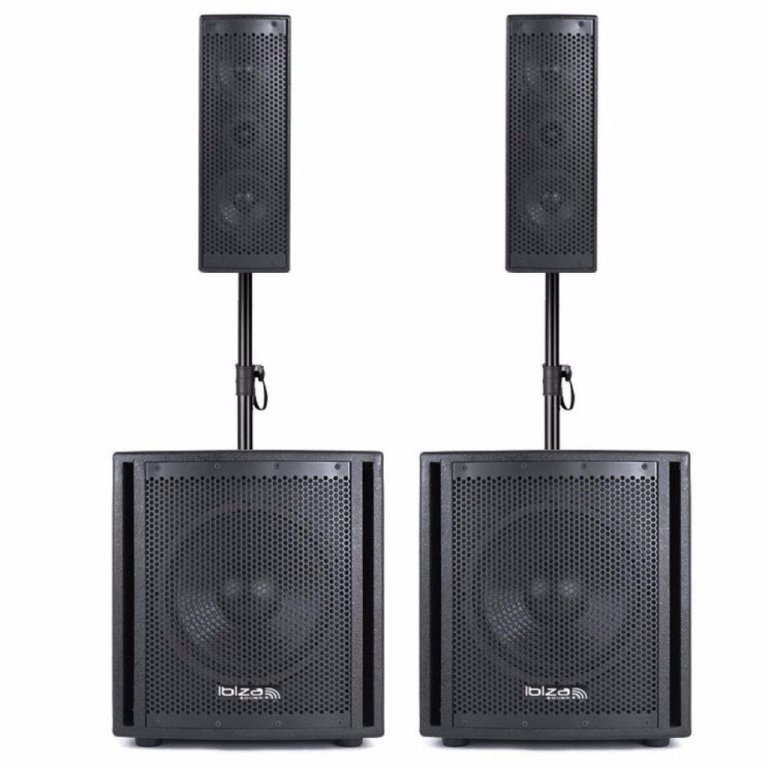 Ibiza Sound CUBE204 Zang set met USB/Bluetooth player