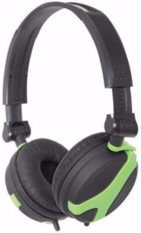 Stereo Hoofd Telefoon Green QX40