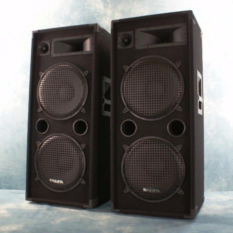 Disco speakerset 3-Weg dubbel 15 inch Bass 1000watt (2109B)
