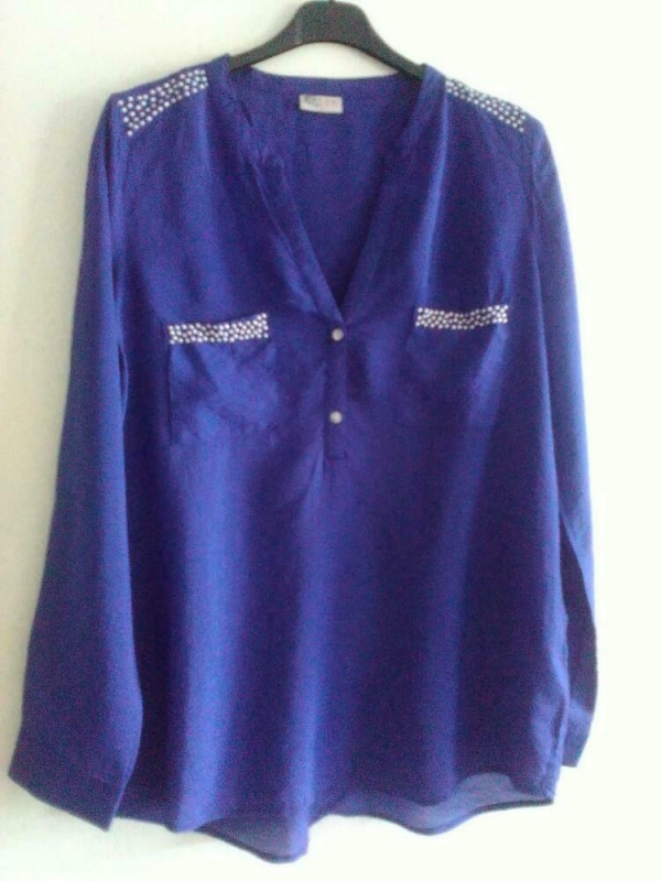 BLOUSE CASUAL CLOTHING Mt. XL BLAUW