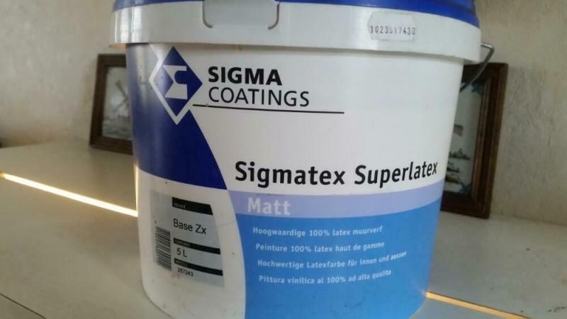 Sigmatex superlatex geel 3 x 5 l.