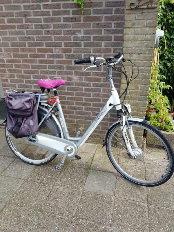 Leuke Goede elektrische fiets, accu goed, met nieuwe achterband