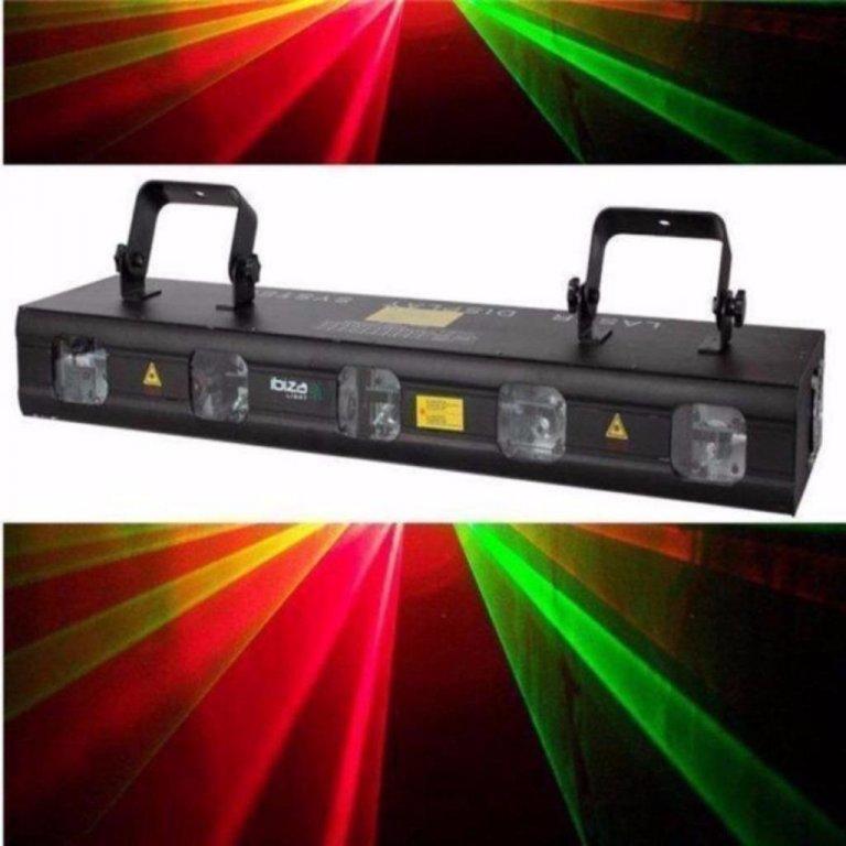 5-lens rgbgp laser met dmx 560mwatt (1167-b)