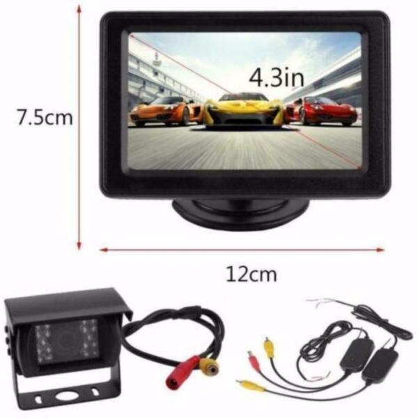 Achteruitrij camera + 4.3-monitor draadloos (KJO66-D)