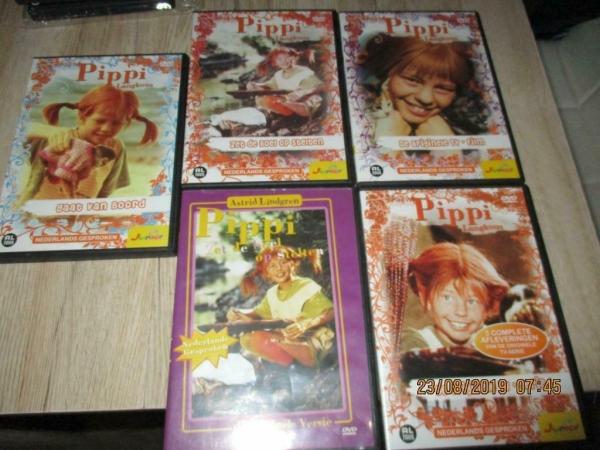 5 klassieker originele dvd`s pipi langkous