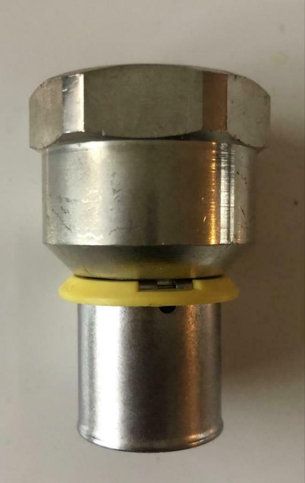 Uponor MLC-G GAS plus perskoppeling recht 20 x 3/4