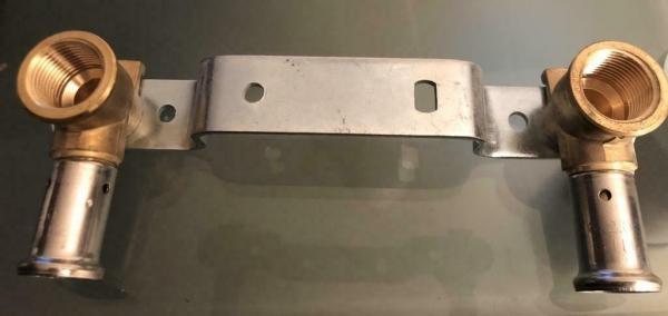 HENCO Muurplaat 16 mm x 1/2