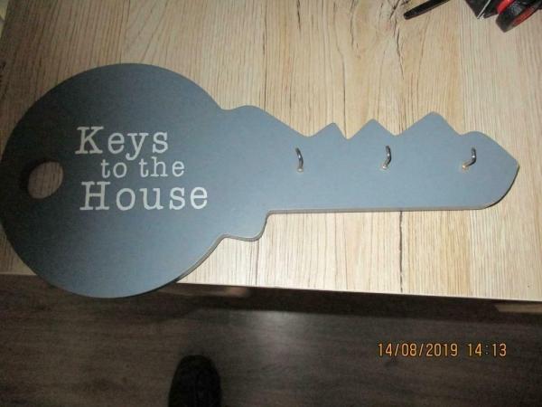 Sleutel rek in grijs 30 x 14 cm