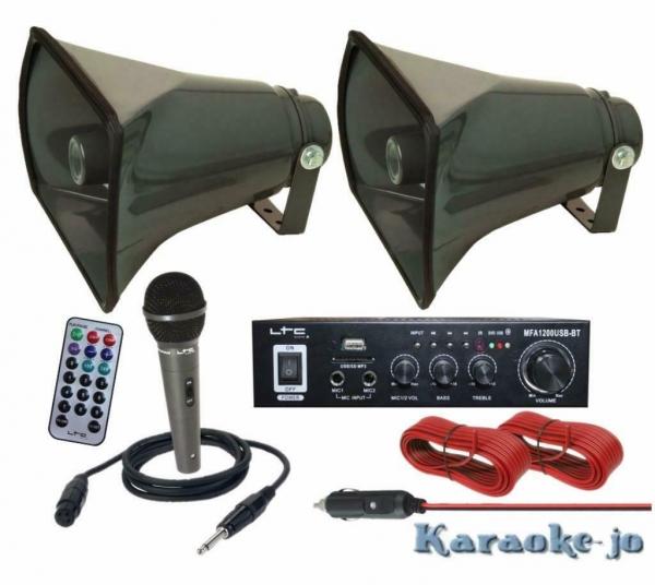 Complete 12 Volt omroep installatie voor op de Auto (E-P113)
