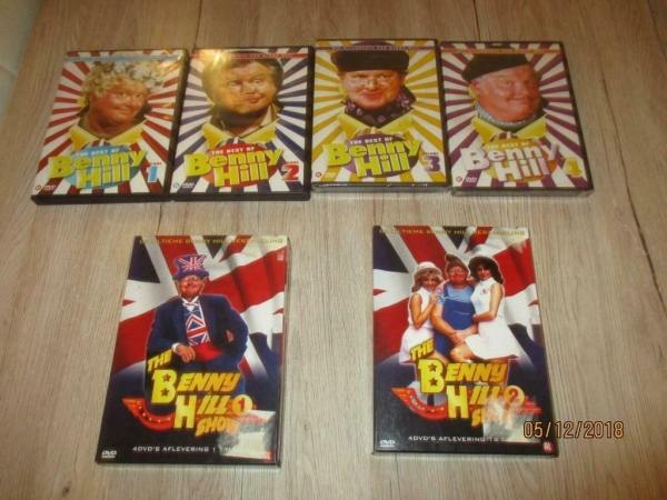 benny hill 9 dvd box collectie, tommy cooper, fawlty towers
