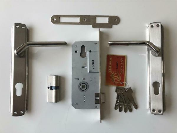 Inbouw veilig Cilinderslot - Compleet met Kruk en Deurschild