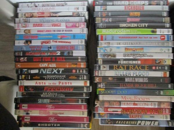 dvd`s actie, films, allerlei boxen, horror, romantiek,