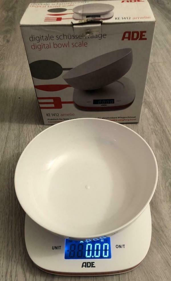 ADE Amelie Elektronische keukenweegschaal Rood, Wit Tafelbla