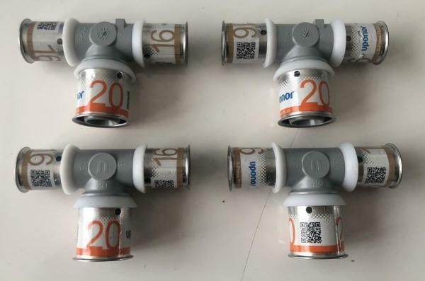 Uponor S-Press Plus perskoppeling T-stuk 16 x 20 x 16mm