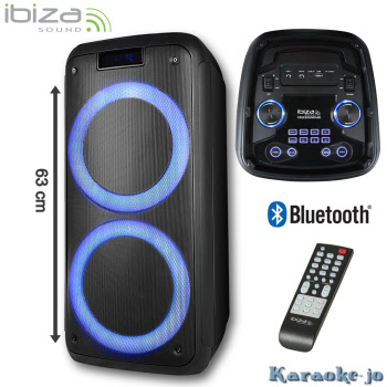 IBIZA FREESOUND400 Actieve Box met ingebowde Accu