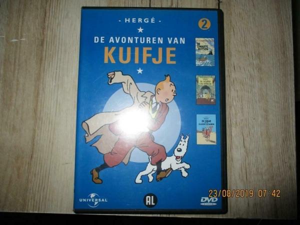 dvd kuifje en een box van 5 dvd
